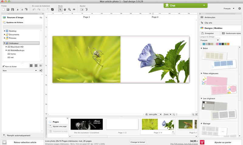 Capture d'écran du logiciel Saal Digital